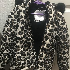 Justice Jackets & Coats - Leopard fur jacket